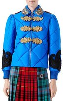 Gucci Caspian Nylon Quilted Bomber Jacket, Bright Blue