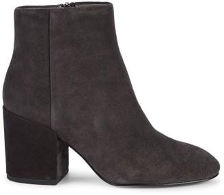 Ash Eden Suede Block-Heel Booties