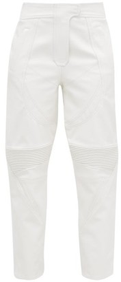 Stella McCartney Faux-leather Biker Trousers - Womens - White