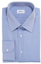 Brioni Twill Dress Shirt, Blue
