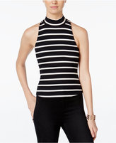 XOXO Juniors' Striped Illusion Cutout Top