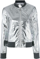 Paco Rabanne metallic bomber jacket - women - Cotton/Polyurethane/Cupro/Viscose - 36
