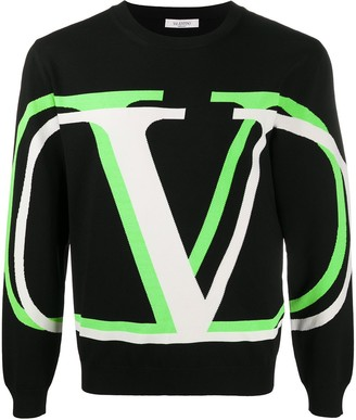 Valentino VLOGO Shadow knitted jumper