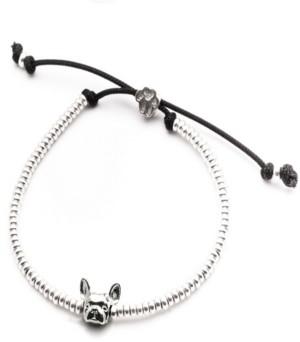 Dog Fever French Bulldog Head Bracelet in Sterling Silver