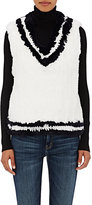 Kule Women's V-Neck Rabbit Fur Vest