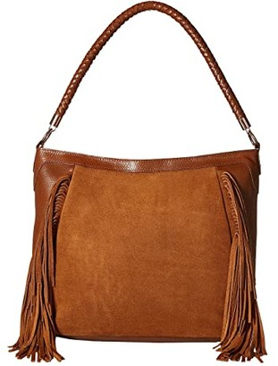 Scully Brianne Fringe Purse (Brown) Handbags