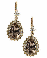 Marchesa Goldtone Brass Pear Drop Earrings