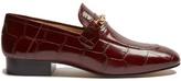 Joseph Crocodile-effect leather loafers