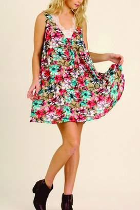 Umgee USA Sleeveless Floral Dress