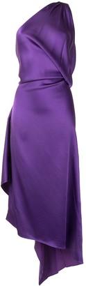 ATTICO One Shoulder Asymmetric Evening Dress