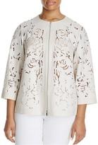 Lafayette 148 New York Plus Hadara Lace Pattern Jacket