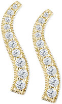 Giani Bernini Cubic Zirconia Graduated Curve Drop Earrings in 18k Gold-Plated Sterling Silver, Only at Macy's