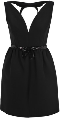 Miu Miu Sequin Embellished Belted Mini Dress