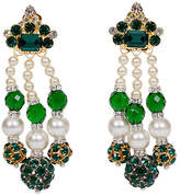 One Kings Lane Vintage Vrba Emerald & Pearl Drop Earrings