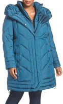 Gallery Pillow Collar Quilted Walker Coat (Plus Size)