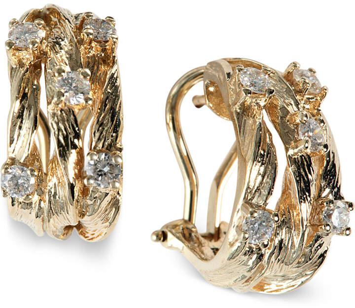 Effy D'Oro by Diamond Vine Earrings (5/8 ct. t.w.) in 14k Gold