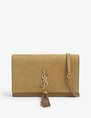 Saint Laurent Kate tassel embellished wallet on chain