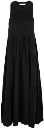 Ninety Percent Black tiered organic cotton midi dress