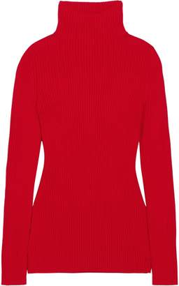 Victoria Beckham Ribbed Wool Turtleneck Sweater