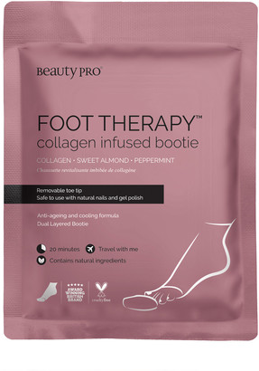 BeautyPRO Foot Therapy Collagen Infused Bootie With Removable Toe Tip 17G