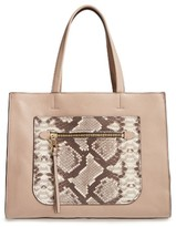 Vince Camuto Elvan Leather Tote - Beige