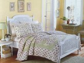 Laura Ashley Whitaker Standard Quilted Pillow Sham, Yellow Purple Green
