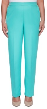 Alfred Dunner Miami Beach Flat-Front Pull-On Pants