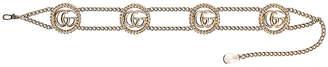Gucci Chain Belt in Gold & Crystal | FWRD