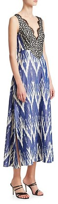 Rachel Comey Panicle Ikat Lace Cotton Maxi Dress