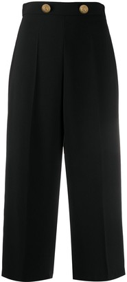 Elisabetta Franchi High Rise Cropped Trousers