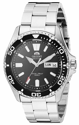 Orient Japanese Automatic Sport Watch with Stainless Steel Strap Silver 20 (Model: SAA0200BD9)