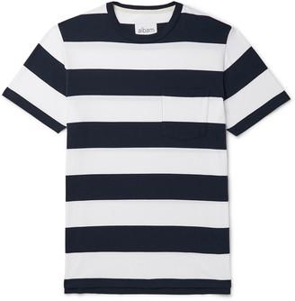 Albam Striped Cotton-Jersey T-Shirt - Men - Blue