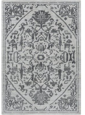 Surya Hightower Oriental Hand Knotted Light Gray Area Rug Rug Size: Rectangle 9' x 13'