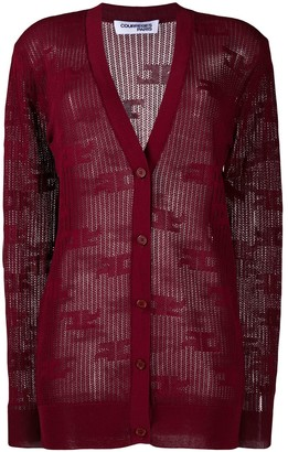 Courreges All-Over Logo Cardigan