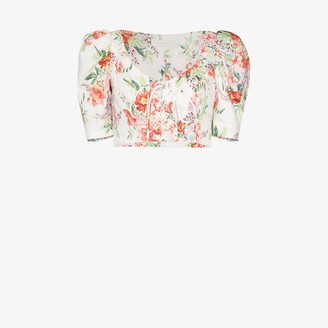 Zimmermann Bellitude cropped blouse