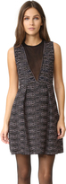M Missoni V Neck Dress with Sheer Panel