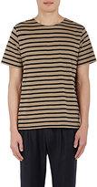 Margaret Howell Men's Breton Striped T-Shirt-BLACK