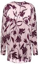 Equipment Delainey Floral-print Silk-satin Blouse