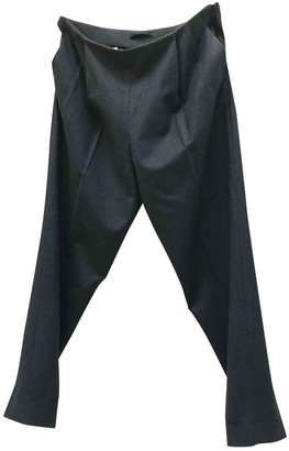 The Row Grey Wool Trousers