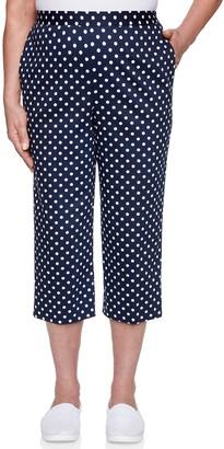 Alfred Dunner Women's Dot Capri Pants