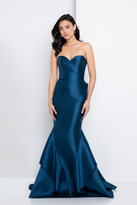 Terani Couture 1721E4187 Strapless Pleated Layered Trumpet Gown