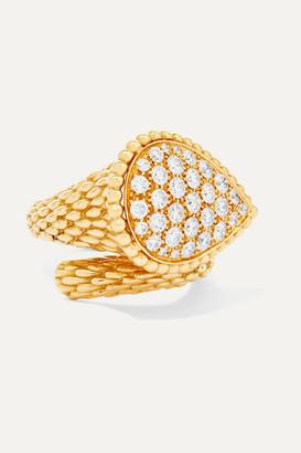 Boucheron Serpent Boheme 18-karat Gold Diamond Ring - 52