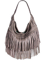 Oryany As Is Soft Nappa Leather Fringe Hobo - Stevie