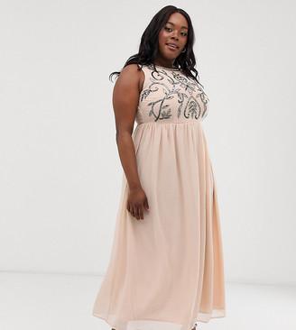 AX Paris Plus embellished maxi dress