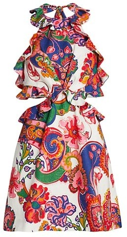 Zimmermann Lovestruck Tie-Back Mini Dress