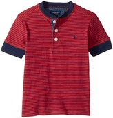 Polo Ralph Lauren Yarn-Dyed Slub Jersey Short Sleeve Henley Top Boy's Short Sleeve Knit