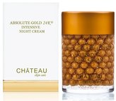 ABSOLUTE GOLD 24K INTENSIVE NIGHT CREAM - 24 Karat Gold, Silk Peptides and Hyaluronic Acid. It Provides Firming, Smoothing, Moisturizing And Anti Aging Effects. Excellent For All Skin Types. 2 Fl.oz-60ml. (FRAGRANCE FREE, CRUELTY FREE, PARABEN FREE, PETROLEUM FREE). by Botanical Beauty