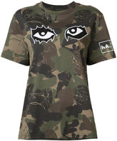 Haculla - camouflage eye print T-shirt - women - Cotton - XS