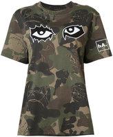 Haculla - camouflage eye print T-shirt - women - Cotton - XXS