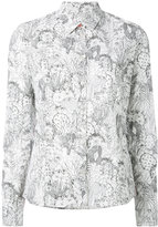 Paul Smith cactus sketch print shirt - women - Cotton - 48